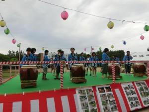 御経塚町内会夏祭り:子ども会虫送り太鼓