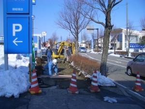 2/26 二日市矢木線歩道舗装工事